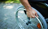 In rolstoel na bedrijfsongeval